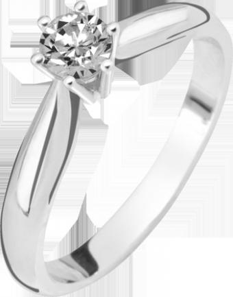 Deze verlovingsring kenmerkt zich doordat deze smaller wordt