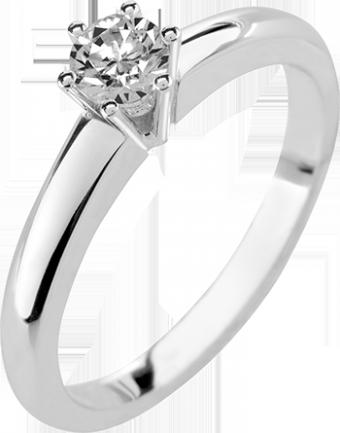 Deze verlovingsring kenmerkt zich door een mooie rechte zijkant