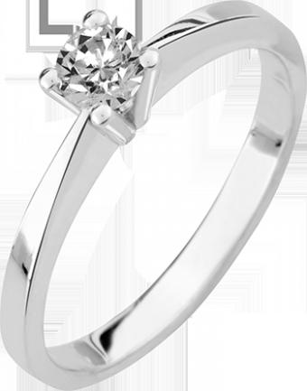 Deze verlovingsring kenmerkt zich door zijn open karakter.