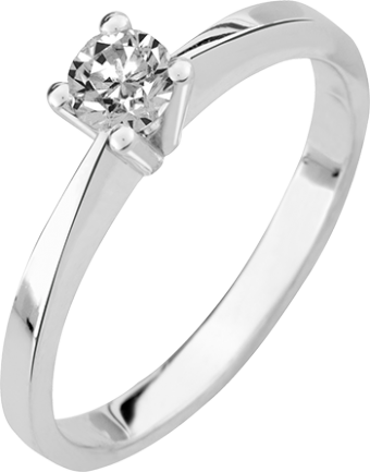 Deze verlovingsring kenmerkt zich door zijn open karakter
