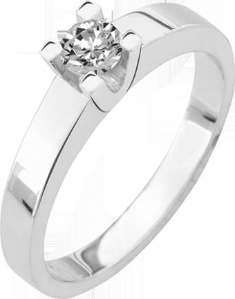 Deze verlovingsring kenmerkt zich door zijn brede scheen