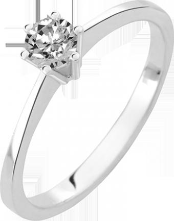 Deze verlovingsring kenmerkt zich door zijn ranke vormgeving
