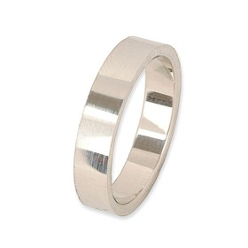 Eternity Verlovingsring 14 krt Witgoud 4 mm