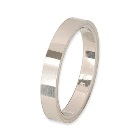 Eternity Verlovingsring 14 krt Witgoud 3 mm