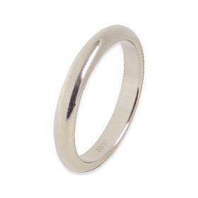 Infinity Verlovingsring 14 krt Witgoud 3 mm