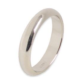 Infinity Verlovingsring 14 krt Witgoud 4 mm